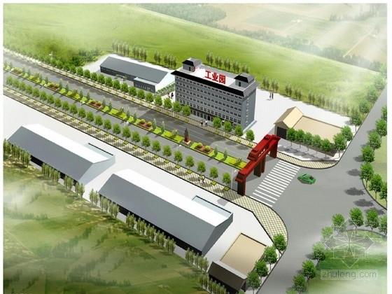 城市工业园区道路施工图设计32张CAD(含雨污水 绿化)