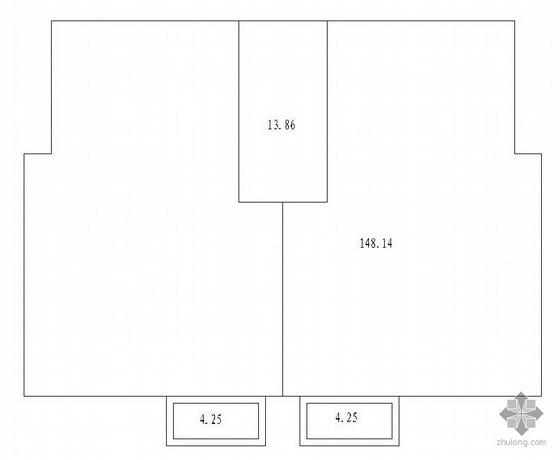 板式多层一梯二户二室一厅一卫户型图(83/83)-2