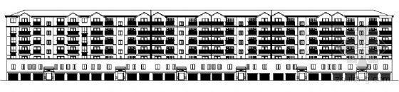 河南省郑州市北开发区某小区临街住宅楼建筑施工图