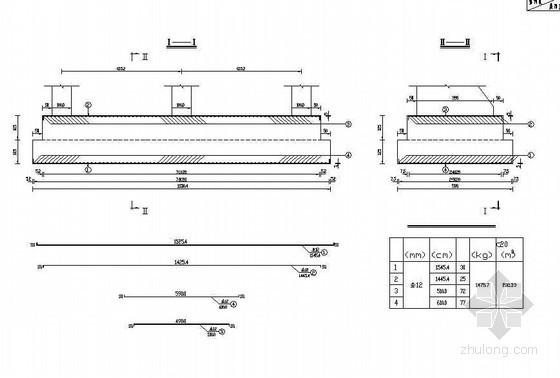 20米后张法预应力空心箱梁桥台扩基钢筋构造节点详图设计