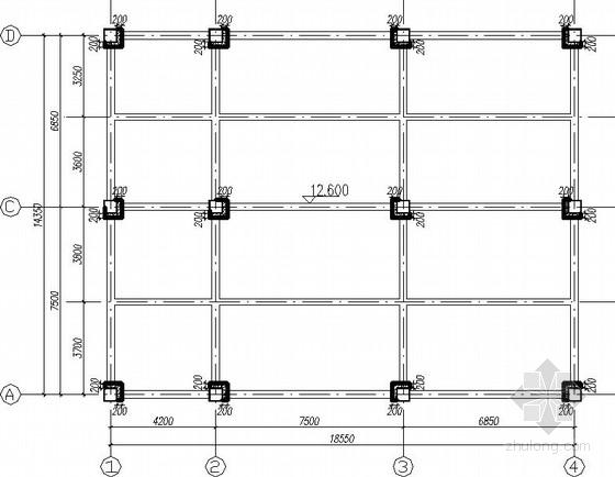 混凝土结构加层钢结构改造施工图