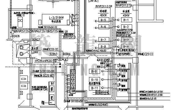 换热机一分钟一开的快3app房图纸资料下载-冷冻站热交换机房BA管线图