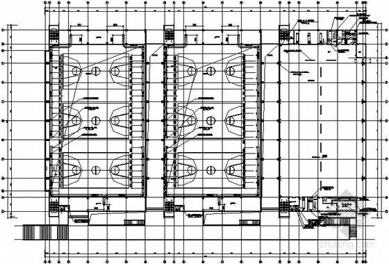 VAV空调设计图纸资料下载-某体育训练馆空调设计图纸(置换送风)