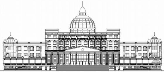 某县欧式人民法院办公楼建筑施工图