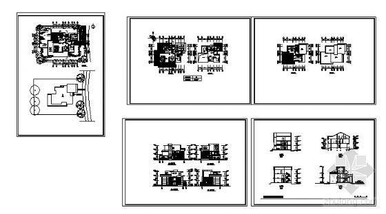 上海某高档小区楼群建筑方案图