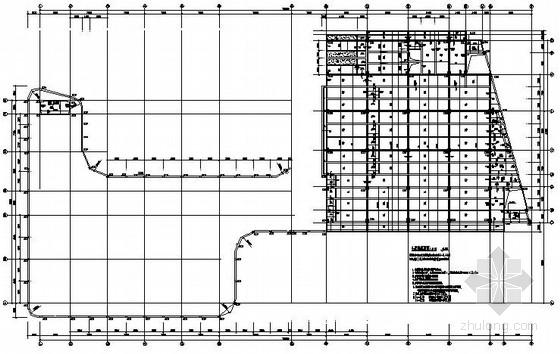 车辆服务站结构施工图
