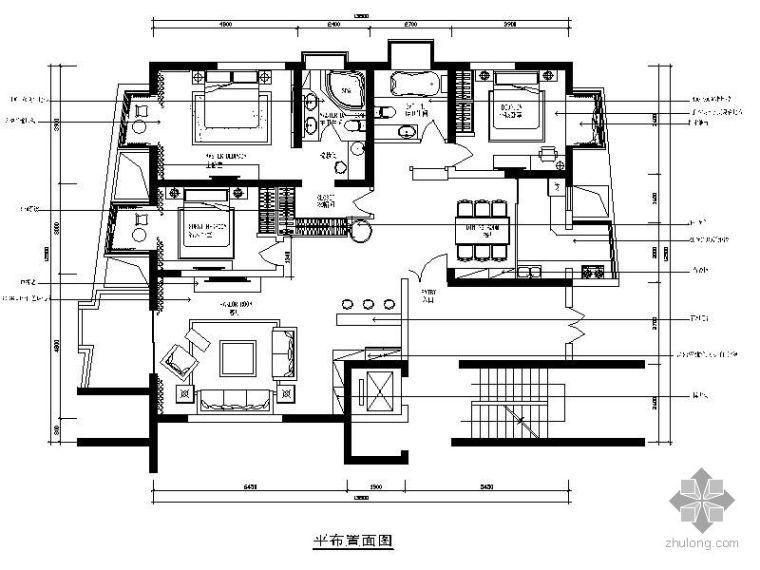 121㎡三室二厅家居装修图(含效果)