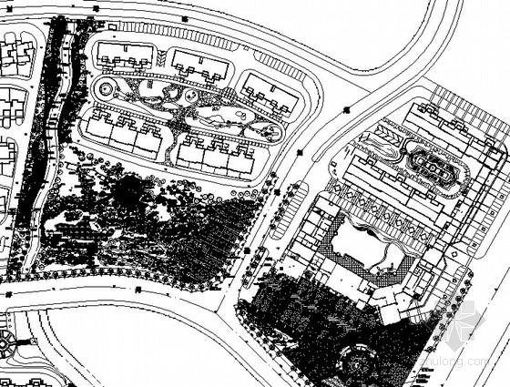 [福州]住宅区组团知名地产景观工程施工图