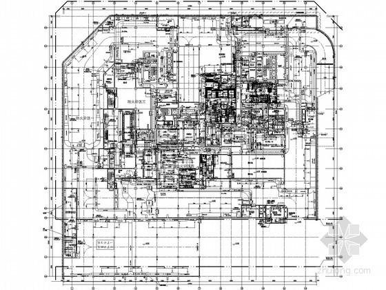 [成都]酒店办公大厦暖通空调施工图纸131张(15万平米)