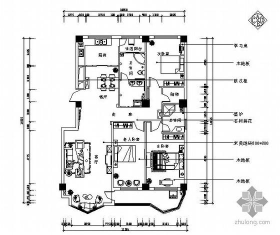 欧式风格三室两厅装修图