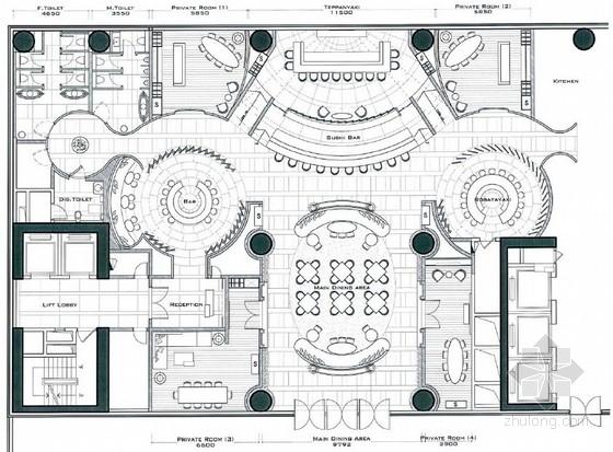 [广州]某酒店日式餐厅概念方案设计图