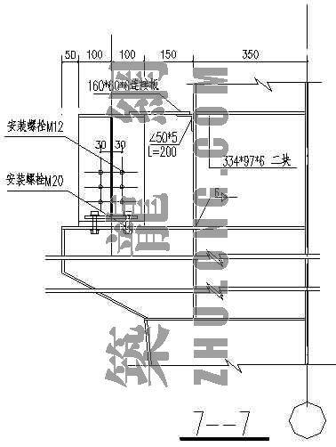 钢柱与楼板的节点