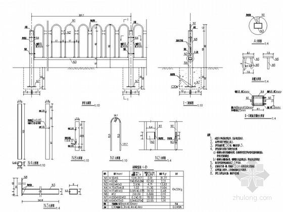 中央分隔护栏设计图