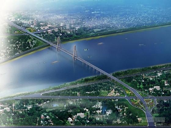 跨江双塔双索面漂浮体系斜拉桥及引桥接线全套竣工图1461张(图纸超全面)