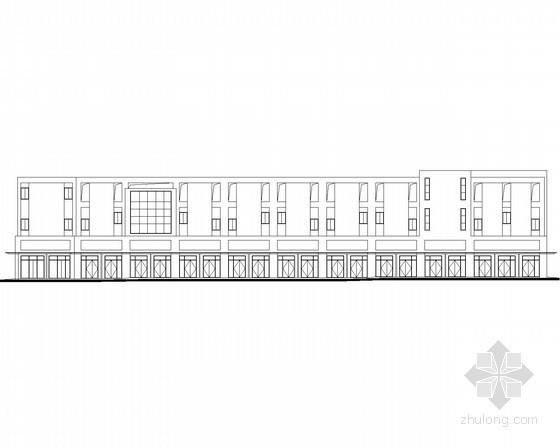 [宜昌]某商贸物流中心三层沿街商铺建筑施工图(1号楼)