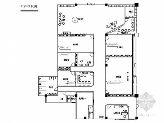 [河北]全国十大品牌之一现代风格早教中心室内装修施工图