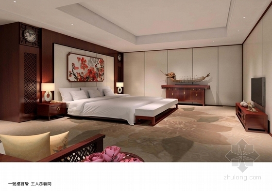 [广东]南方园林特色别墅宾馆改造概念性设计方案主人套间意向图