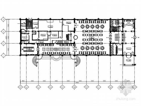 [北京]华贵高雅特级俄式西餐厅室内装修施工图(含实景)