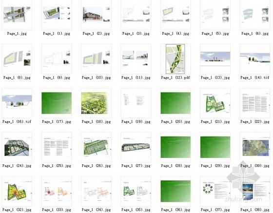 [上海]大型生态体育中心规划设计方案文本(知名事务所)-总缩略图