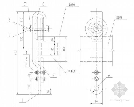建筑给排水设备安装大样图(68张)-烟囱油漆吊车