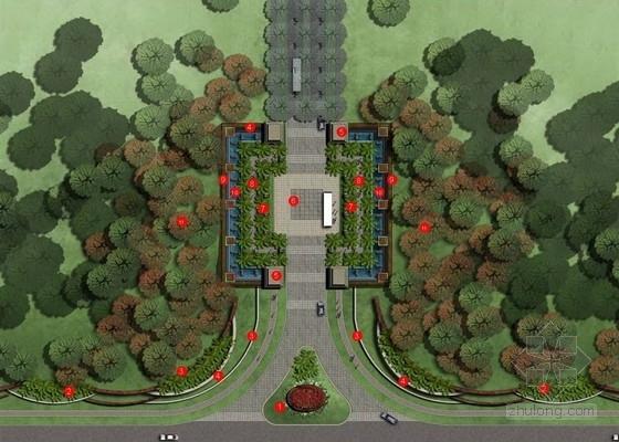 [海口]综合商业别墅区入口景观设计方案(国外设计所)