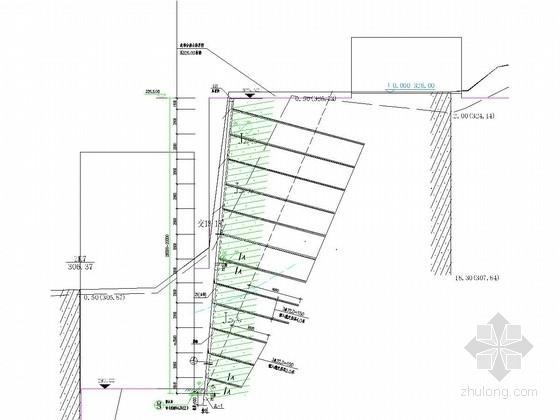 [重庆]锚杆挡墙边坡支护施工图