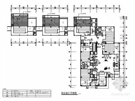 [上海]时尚潮流现代电影城室内装修施工图(含效果图)