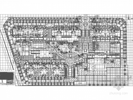 U型景观泳池结构施工图资料下载-[福建]高档典雅型小区景观规划设计施工图