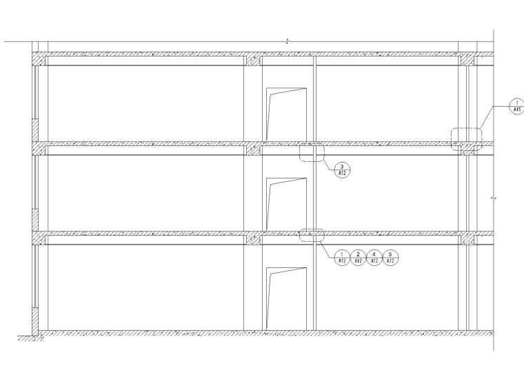 [金螳螂]轻钢龙骨纸面石膏板隔墙设计施工图收口节点深化-石膏板隔墙立面节点索引图