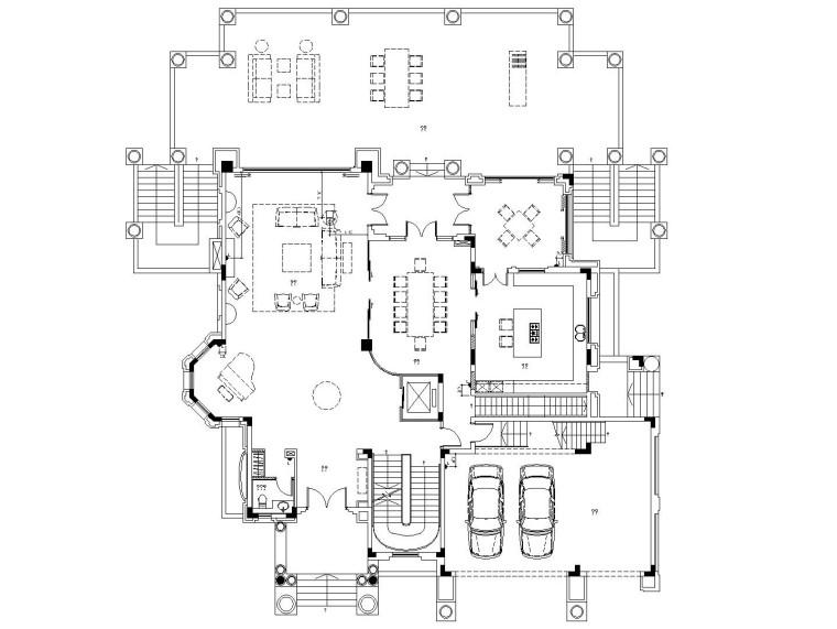 梁志天——欧式简约风格别墅室内装修施工图(附实景照片)