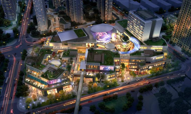 [上海]超现代风格多功能商业建筑设计方案文本(含CAD)