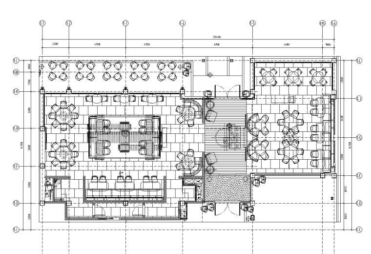 中餐厅一层平面图