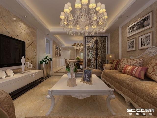 昌建誉峰二期138平米三室两厅欧式风格设计图