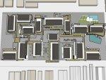 新中式风格,三层\新中式风格,旧厂房改造商业街街道模型.skp