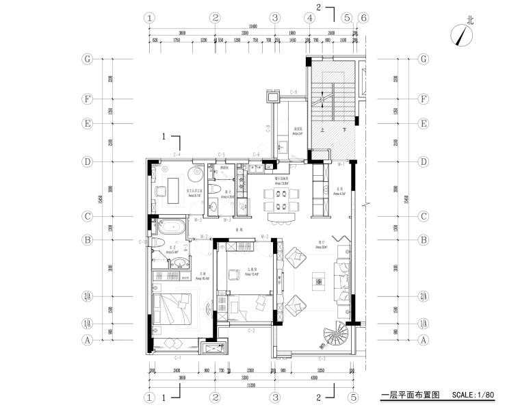 [辽宁]去海边吧—259㎡休闲度假风别墅设计施工图及效果图