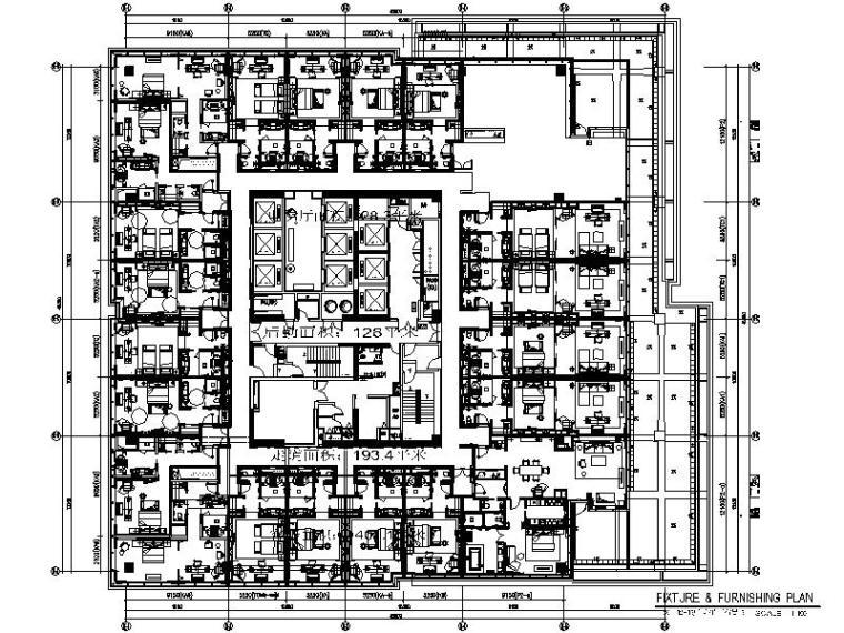 [杭州]某酒店客房层精装修设计施工图