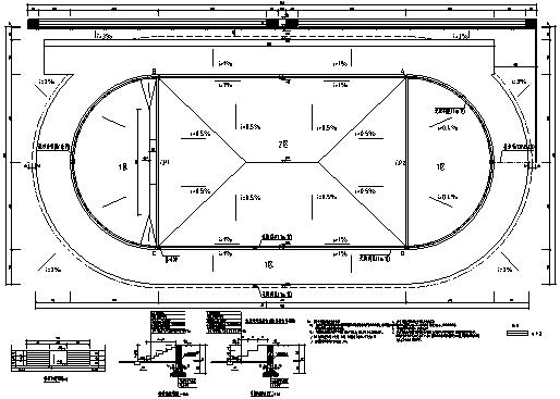 校园250米跑道施工图