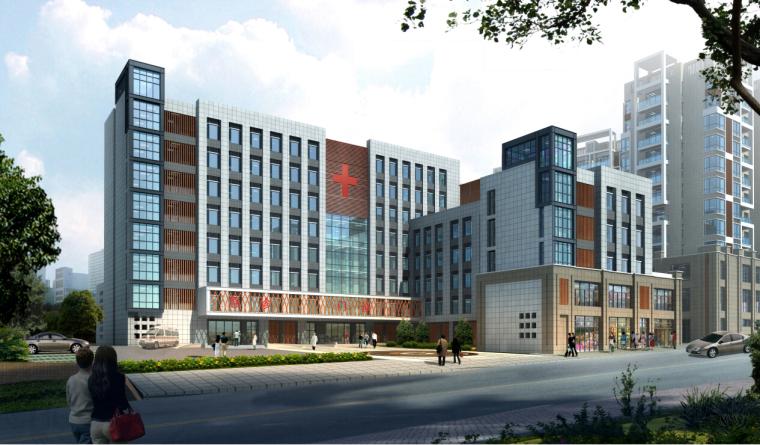 [湖南]高层现代风格常规项人民医院建筑设计方案文本(CAD+文本)_2