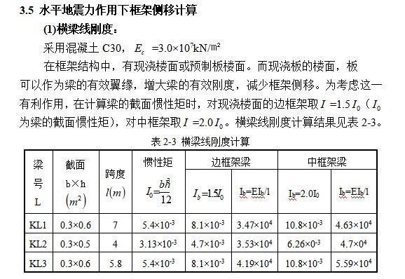 5层框架高中教学楼毕业设计(2000平、计算书、建筑结构图)_6