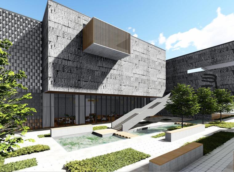 [安徽]庐江档案馆博物馆建筑模型设计(2018年)