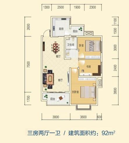 一梯四户小户型公寓平面资料下载-小户型平面设计,