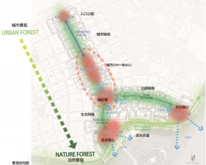 [湖北]生态海绵城市中央绿轴地下立体化商业广场景观绿化设计方案(2017最新)_12