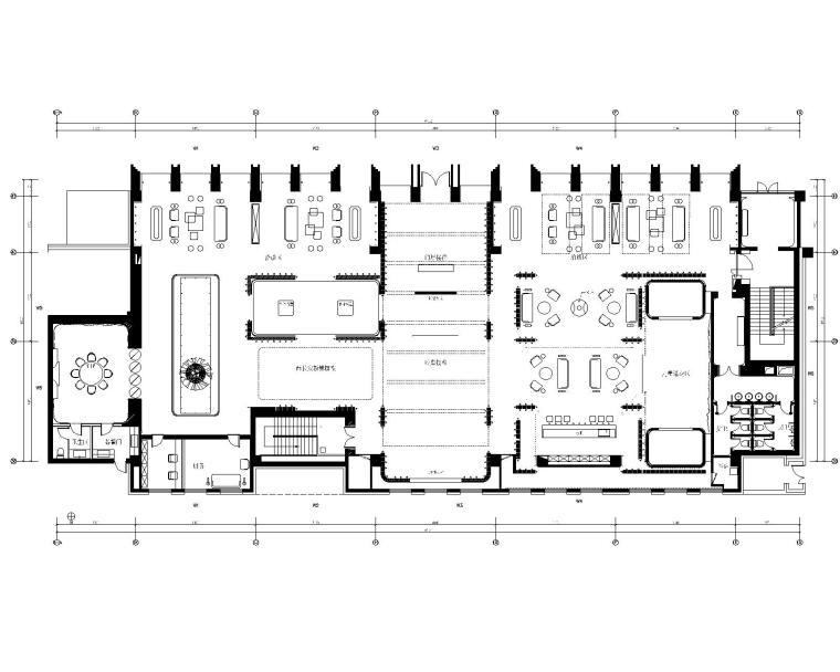 香港无间-万科北京翡翠长安售楼处全套CAD施工图