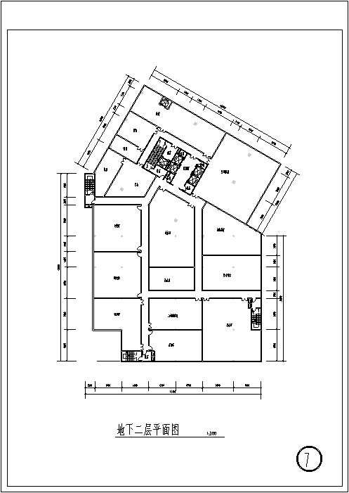 3套现代宾馆酒店建筑设计施工图CAD_11