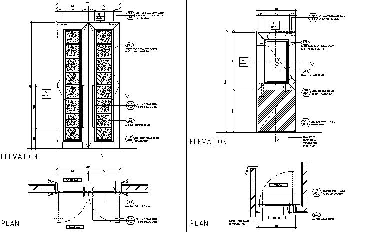 超现代法式餐厅及雪茄吧设计施工图(附效果图)_2