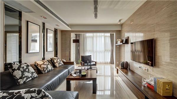 120平现代风格装修案例,突显现代风格的极致艺术感!