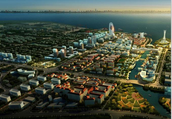 [上海]某岛公共活动中心区城市设计