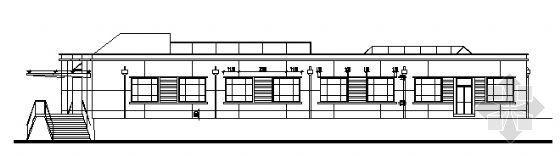 某单层办公大厅全套建筑方案图