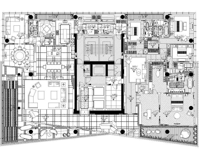 [梁志天]深圳湾1号-现代豪华五居室样板间室内装修设计施工图&深化方案&物料表&软装方案&官方摄影