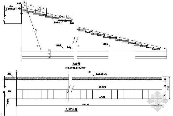 某三跨预应力连续箱梁人行桥设计图